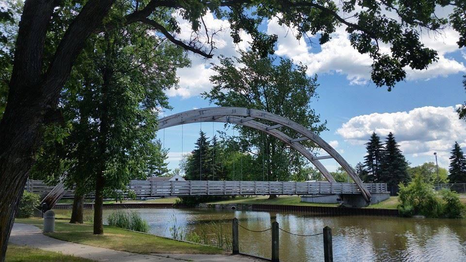 Au Gres Campground Pedestrian Bridge