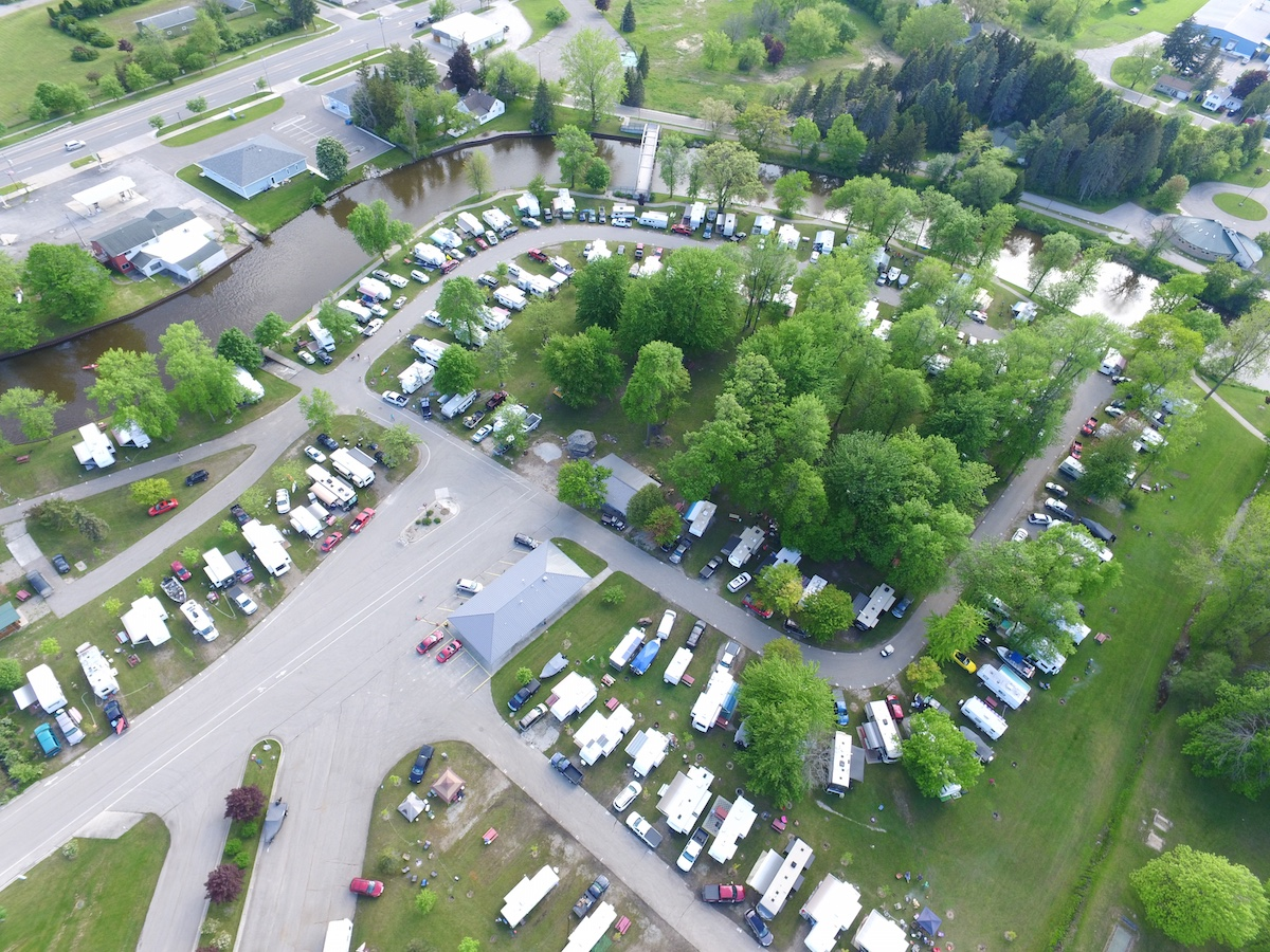 City of Au Gres Campground Aerial